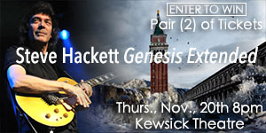 Pair of (2) tickets to Steve Hackett Genesis Extended at Keswick Theatre