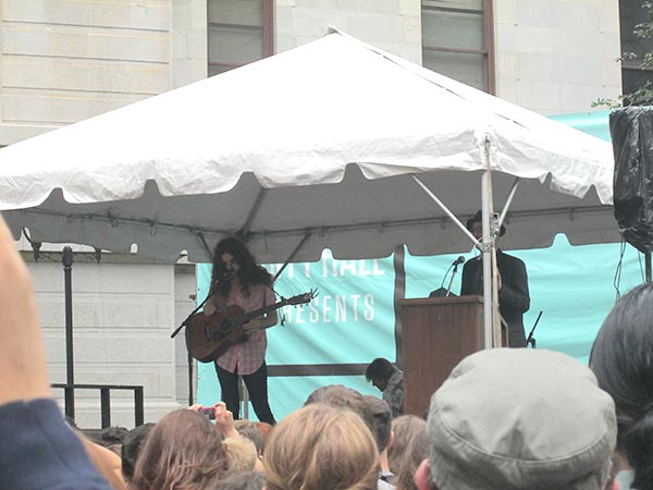 Kurt Vile Day at City Hall in Philadelphia