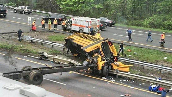 Deadly NJ School Bus and Truck Crash; Keswick Theatre Vandalism, Tomi Lahren; 6yo Finds Cocaine Bag