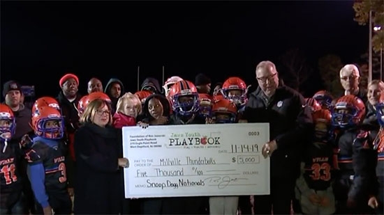 Jaworski Donates to NJ Football Team; 2yo's Oxford Circle Death Ruled Homicide; CC Wendy's Stabbing