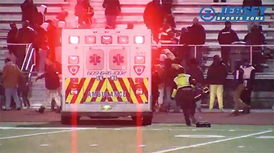 Shooting at NJ High School Football Game - Video; I-95 Closed Tanker Fire; Eagles Sign Jay Ajayi